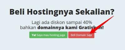 pilihan membeli domain saja atau sekalian hosting di rumahweb