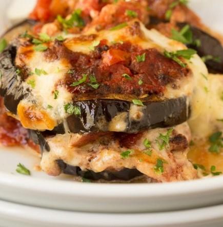 Eggplant and Italian Sausage Gratin