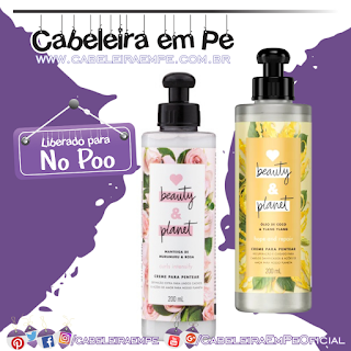 Cremes para Pentear Murumuru e Rosa; e Óleo de Coco e Ylang Ylang - Love Beauty and Planet (No Poo)
