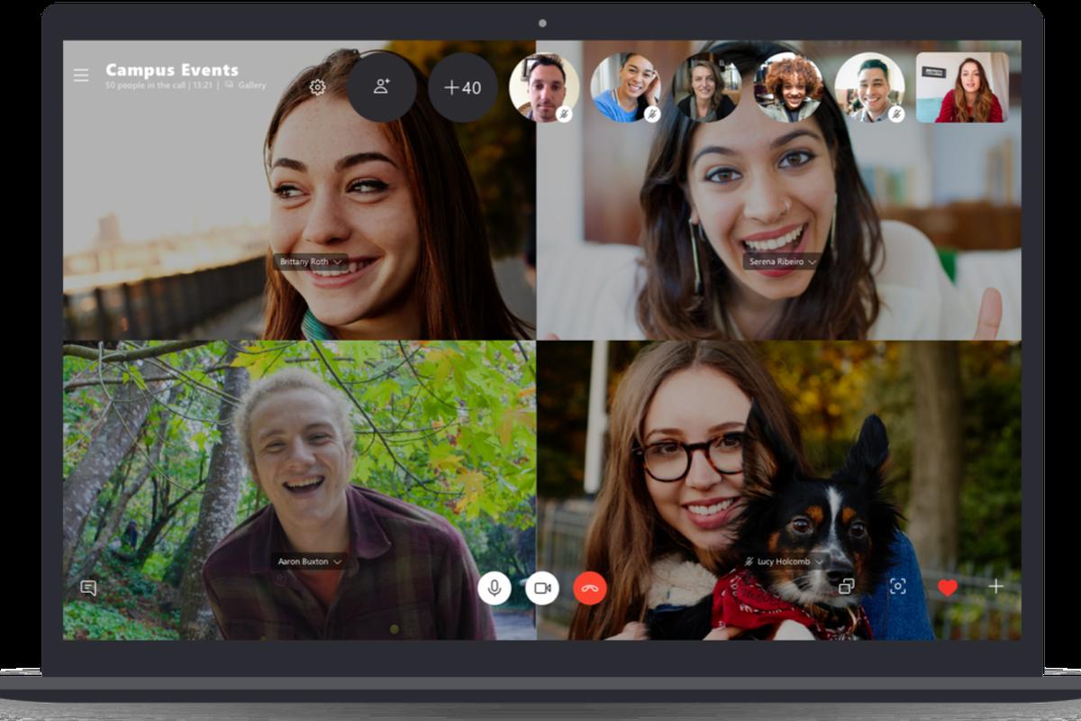 Skype adesso supporta 100 partecipanti nelle videochiamate di gruppo