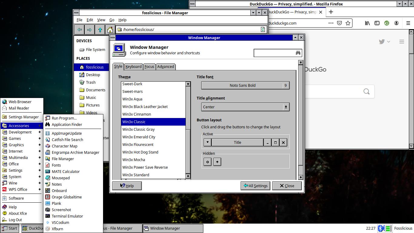 Make Xfce Look Like Classic Windows! - Fosslicious