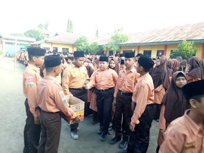 Kakankemenag Tanjungbalai Anjurkan Siswa MTsN Peduli Sesama