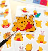 sticker giấy gấu pooh siêu cute dán trang trí sổ tay notebook