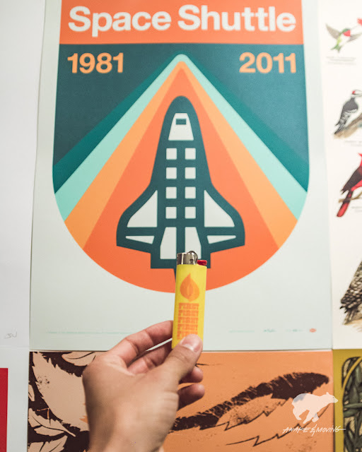 Aaron Draplin's space shuttle.