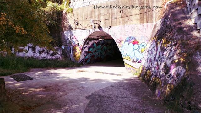 grafitti tunnel edae seoul korea
