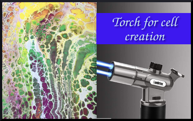 How to use torch for creating cell in pour painting