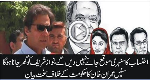 This is Golden Chance for caught the Corruption Master  - Imran Khan, panama leaks and imran khan, imran khan statement over panama leaks,