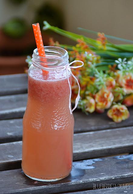 Limonada de pomelo con burbujas 5