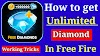 How to get unlimited free diamond in free fire game
