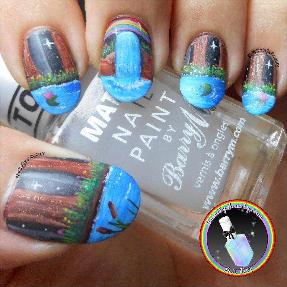 Freehand Rainbow Forest Nails Ithinitybeauty Nail Art Blog