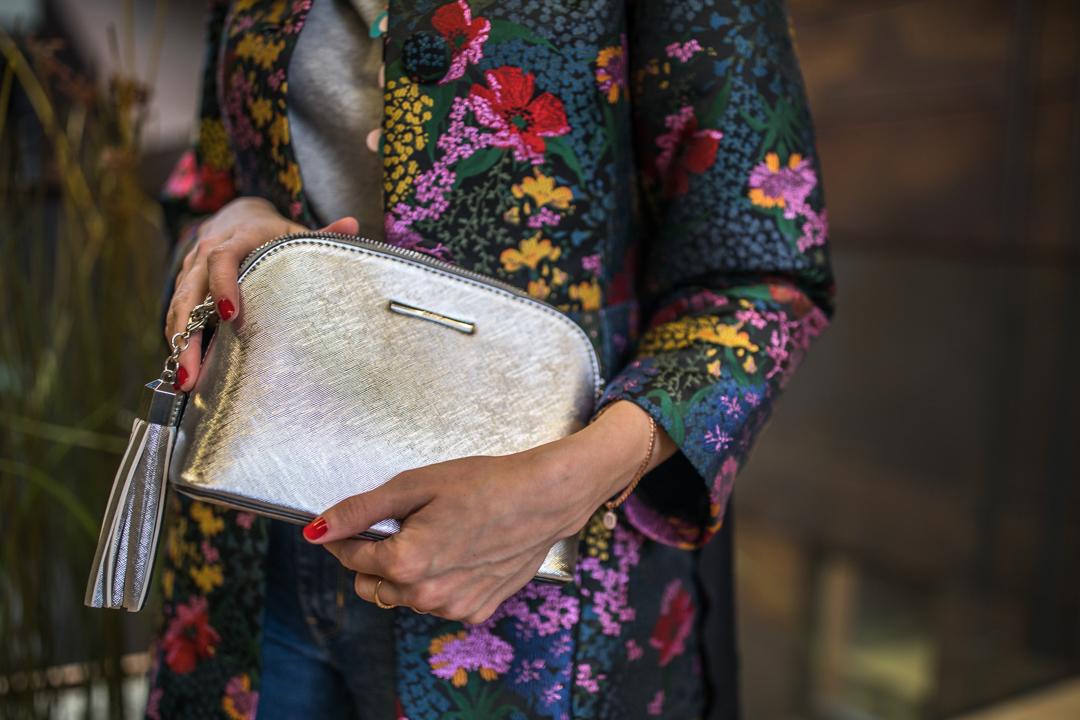 aldo silver pouch bag