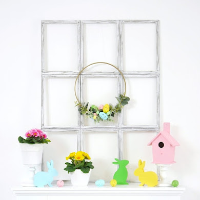 Easter Mantel Pastel Decor DIYs