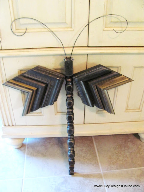 table leg dragonfly with picture molding wings