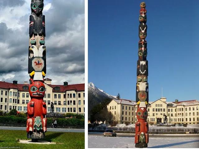 Totem Square in Sitka, Alaska