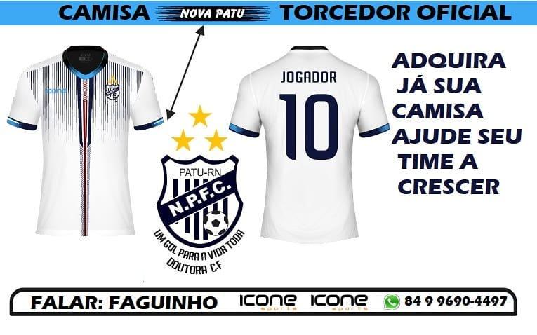 Vamos ajudar, comprando uma camiseta do Projeto Nova Patu Futsal.
