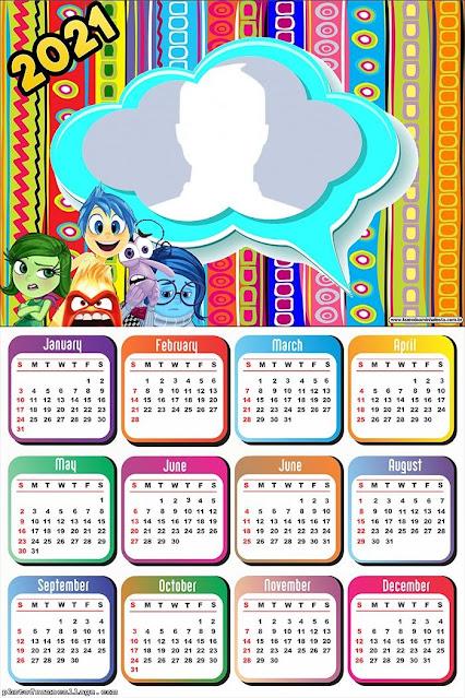 Inside Out: Free Printable 2021 Calendar.