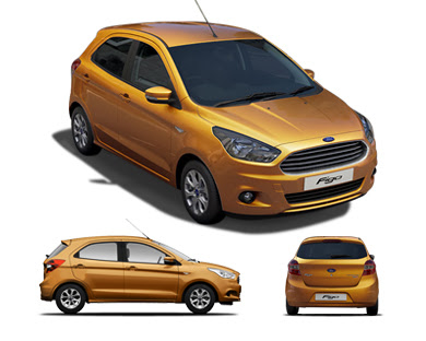 New Ford Figo 2016 Hatchback three difrent look