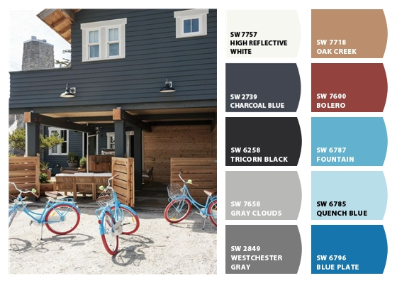 My sweet savannah dark exterior paint colors - Exterior blue paint set ...