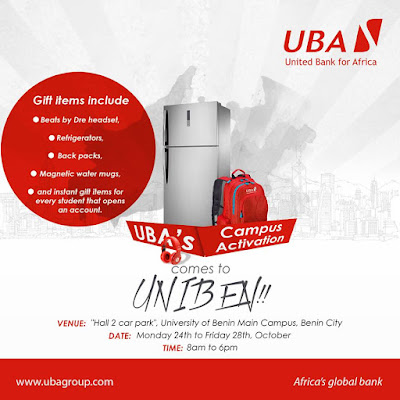 Get excited!!! UBA is live in University of Benin aka UNIBEN.