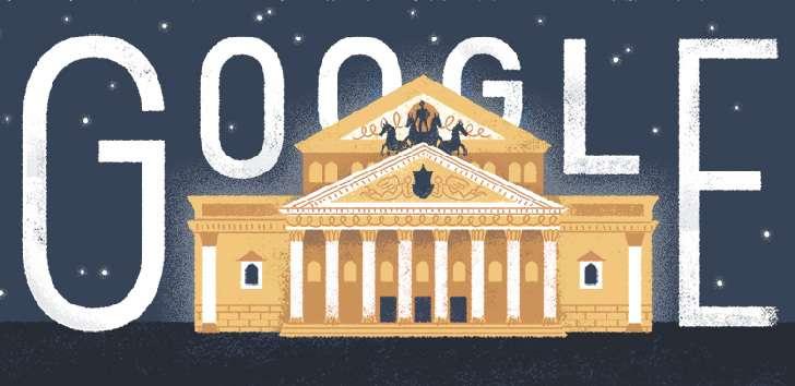 Sejarah Yayasan Bolshoi Theater Rusia Pada Hari ini Ulang Tahun Le 240 Di Rayakan Google Doodle Dengan Logo