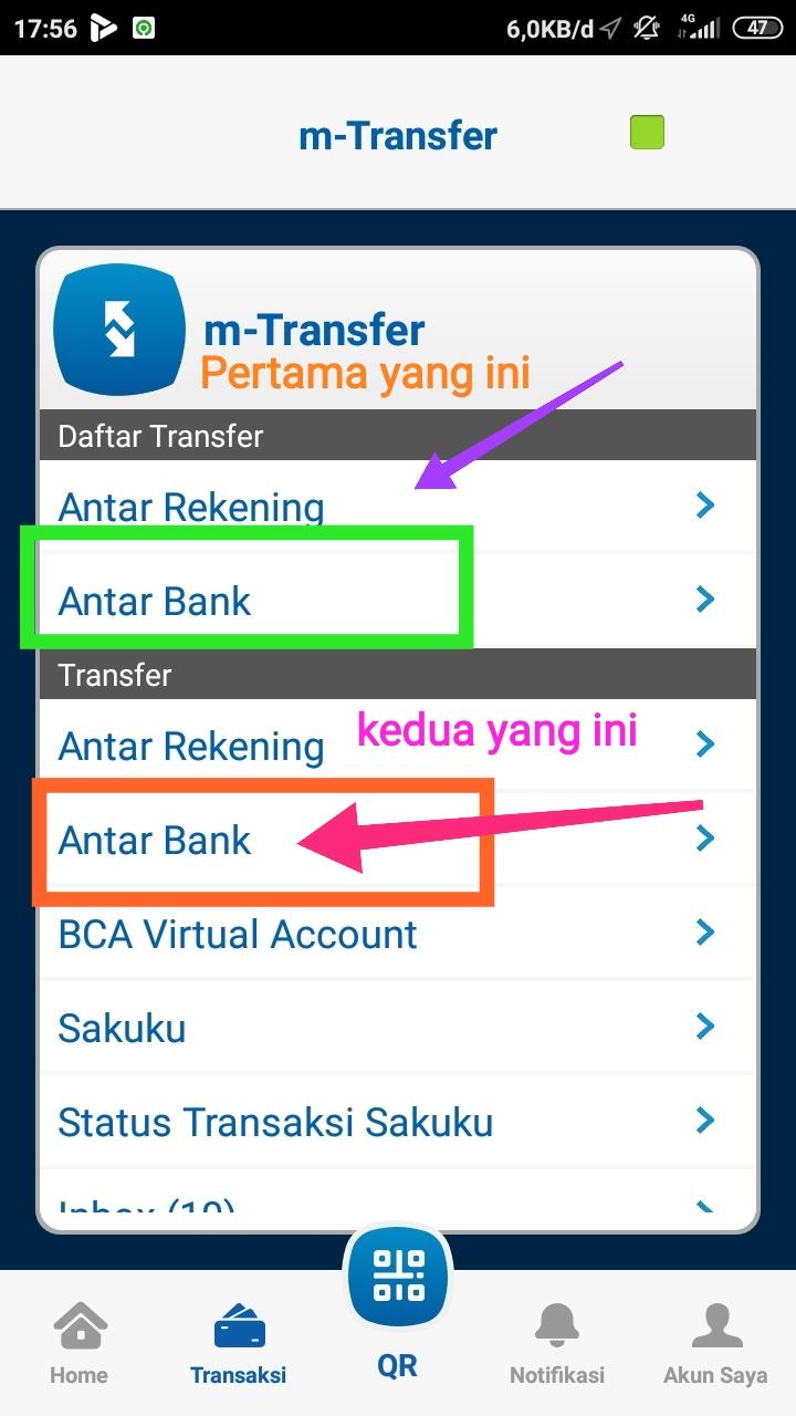 Cara transfer BCA Ke BNI,MANDIRI,BRI,BTN lewat M-Banking ...