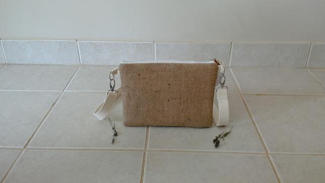 Burlap Floral Crossbody Zipper Bag - linaandvi.etsy.com