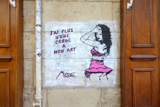 Sunday Street Art : Miss Tic - rue Dauphine - Paris 6