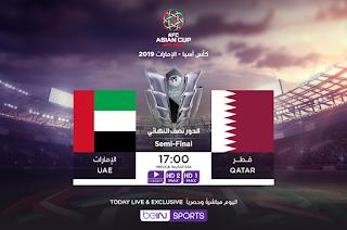 بث مباشر مباراة الإمارات و قطر مباشر اليوم نصف نهائي كأس أمم آسيا