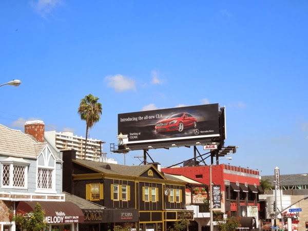 Mercedes-Benz new CLA 3D mannequin billboard ad