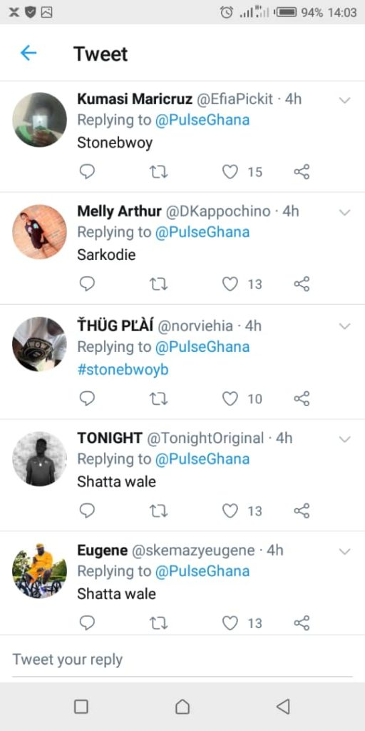 Sarkodie Wins Over Shatta Wale And Daddy Lumba On Twitter Popular Artiste Poll 2