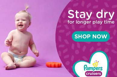 Order Pampers Cruisers from Walmart, Amazon or Target.
