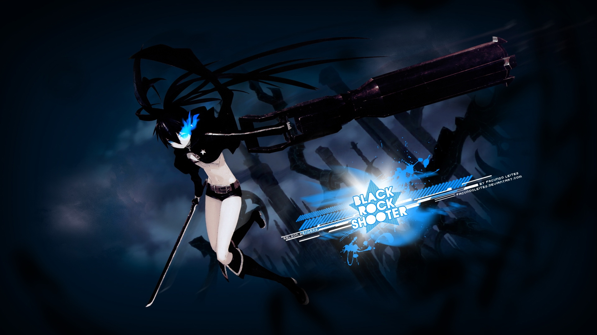 Black Rock Shooter - High Definition Wallpapers - HD wallpapers