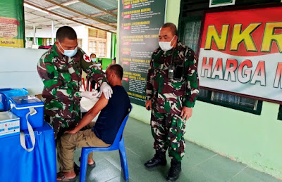 Koramil 18/Ingin Jaya Targetkan 200 Dosis Vaksin Disuntikan Bagi Masyarakat