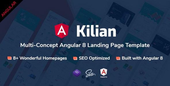 Kilian - Angular Multi-Concept Landing Page Template