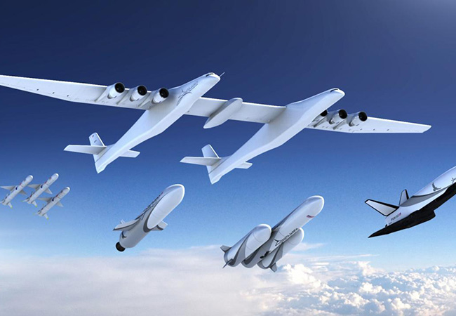 Tinuku Paul Allen's Stratolaunch Systems unveiled rockets and space cargo