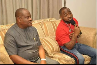 Governor of River State Host Davido And Crew Members at Government House - Photos