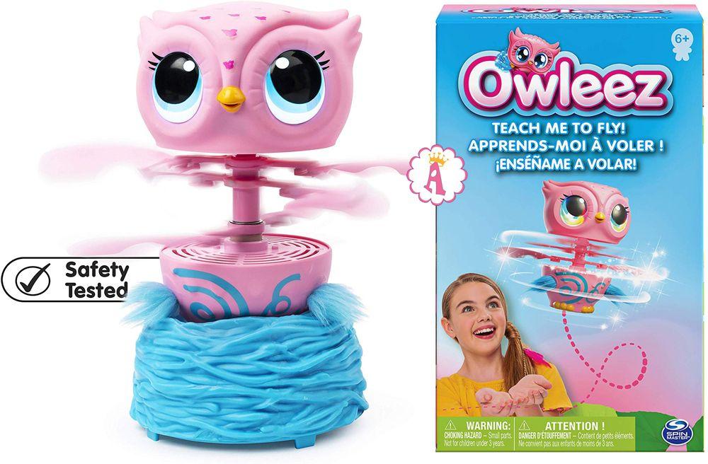 Летающие игрушки Owleez розовая сова