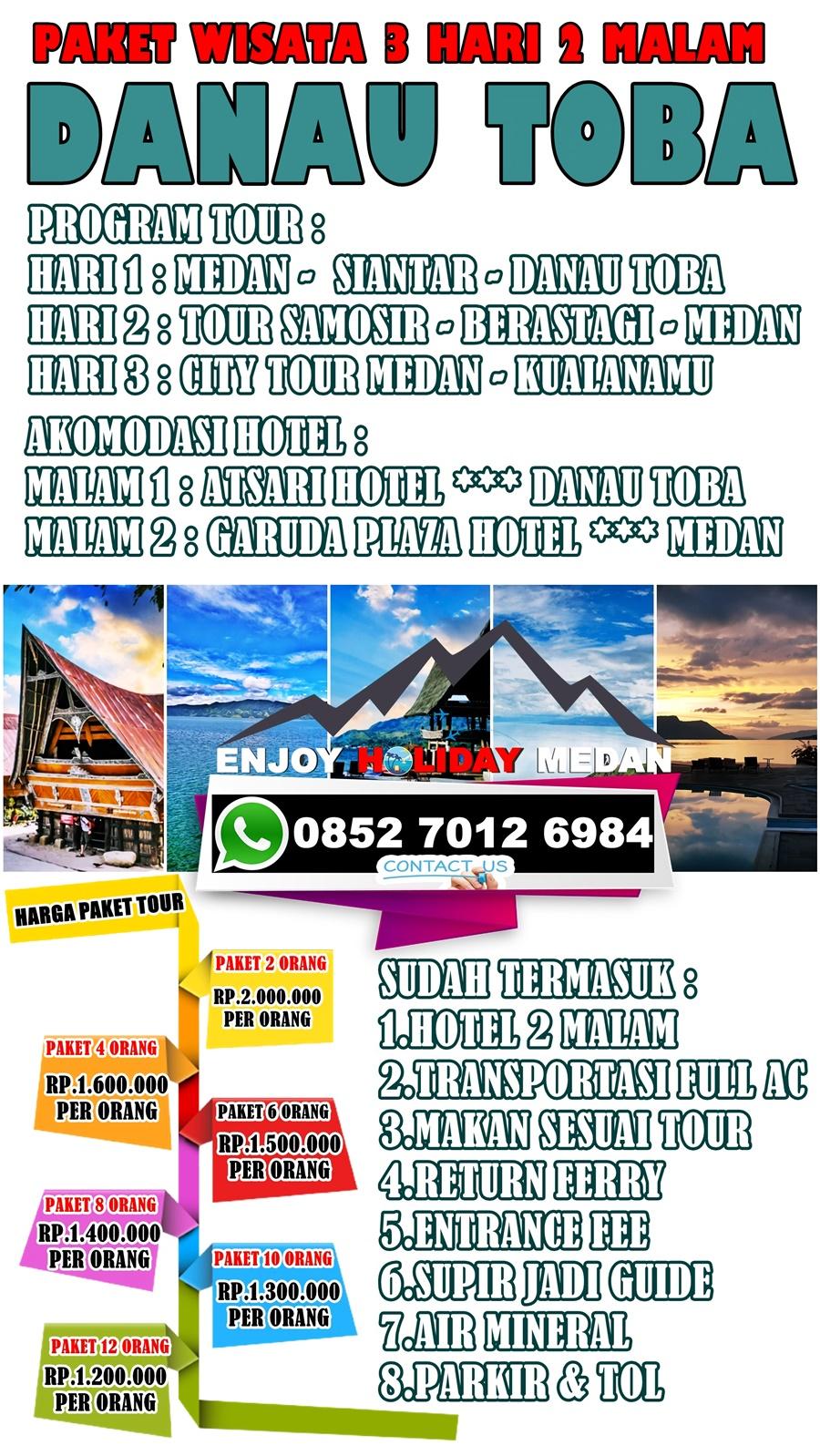 5D4N Paket Wisata Silangit Balige Danau Toba