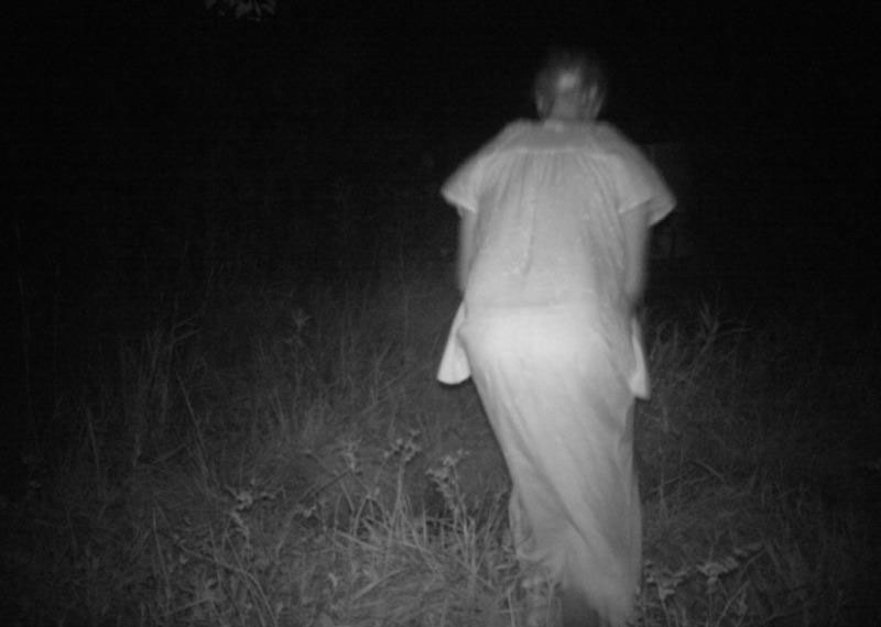 original terrifying ghost photo in forest