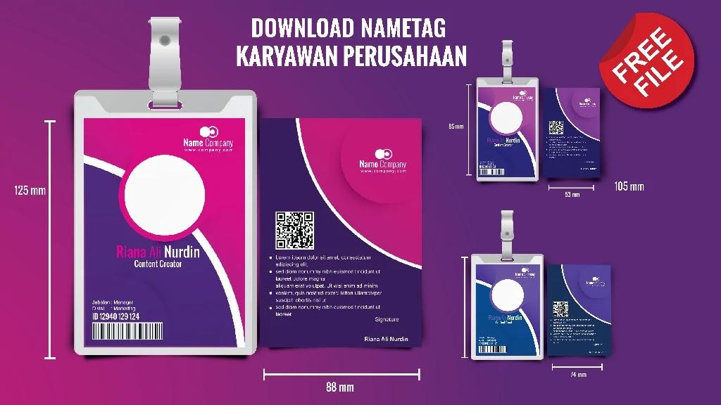 Contoh Download Format ID Card Karyawan CorelDraw photohsop 8