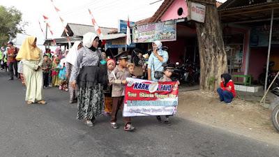 Turun Kejalan, Siswa Taman Kanak-Kanak Ikuti Karnaval HUT RI ke 74