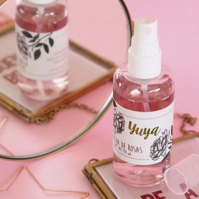 agua de rosas yuya