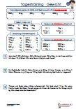 Tagestrainig-Gewicht-Einheiten-Kilogramm-Arbeitsblatt