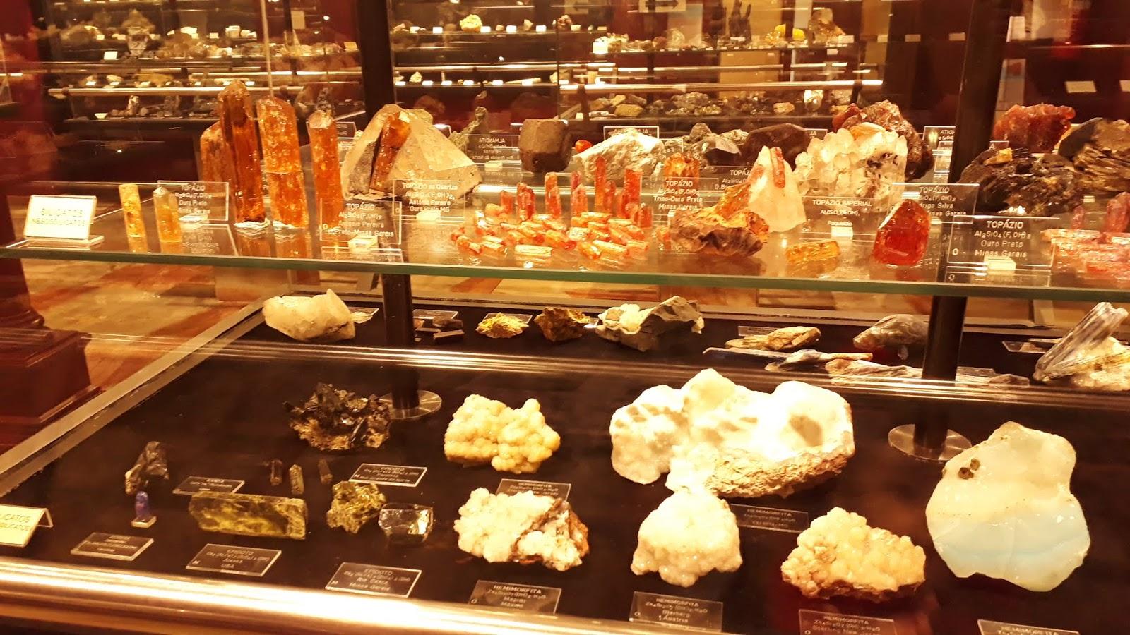 Sala 1 da Mineralogia - Museu da Ciência e da Técnica UFOP