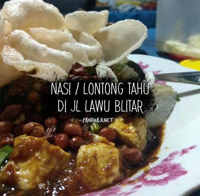 Kuliner Nasi Lontong Tahu di Blitar