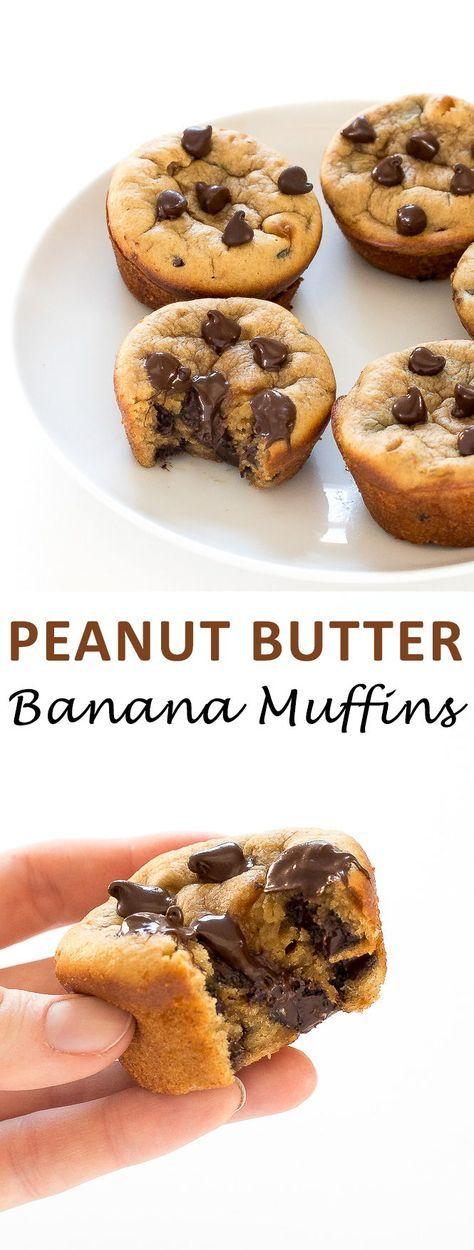 The Best Flourless Peanut Butter Banana Muffins