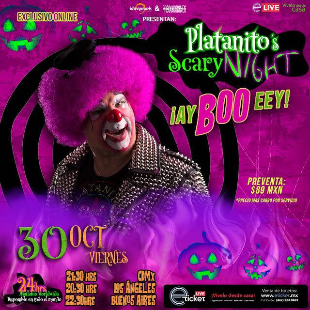 Platanito Show presentará su cuarto show online con temática de Halloween