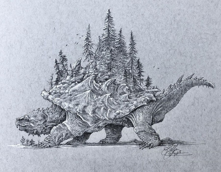 07-Snapping-Turtle-Forest-Gillian-Griffiths-www-designstack-co