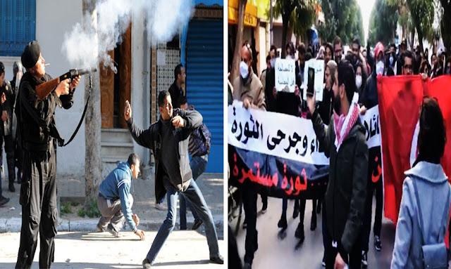 Tunisie : Des blessés et des familles des martyrs de la révolution agressés lors de leur sit-in