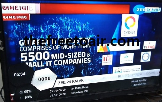 Zee 24 Kalak Gujarati-language news FTA from SES 8 Satellite
